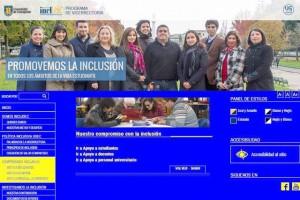 Captura de pantalla mostrando portal web INCLUDEC
