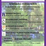 """Imagen Seminario Permanente en RSU """"Por un Campus Sustentable"""""""