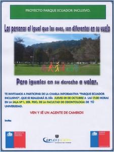 Imagen que muestra Afiche de charla proyecto parque ecuador inclusivo