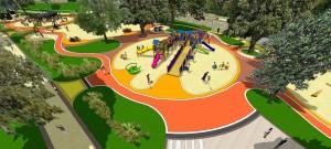 Imagen que muestra modelo en 3d de los juegos del parque ecuador