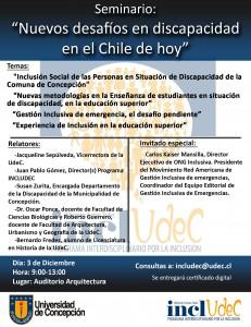 Imagen que muestra afiche del evento con programa