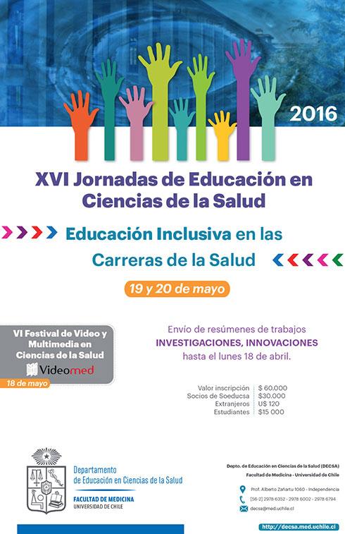 XVI Jornadas de Educación en Ciencias de la Salud