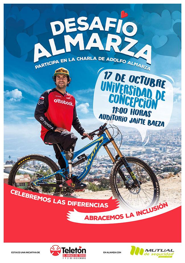 afiche promoción tour desafío almarza