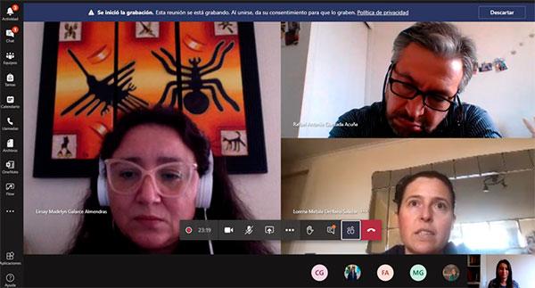 Imagen del Conversatorio videoconferencia por teams