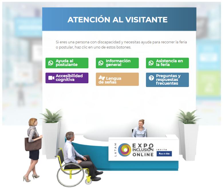 Imagen con información de atención al visitante - Información General - Ayuda al postulante