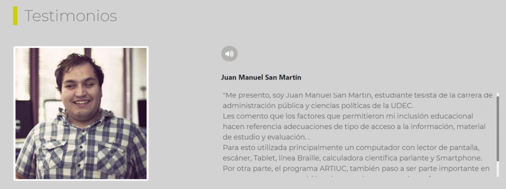 Imagen testimonio Juan Manuel San Martin